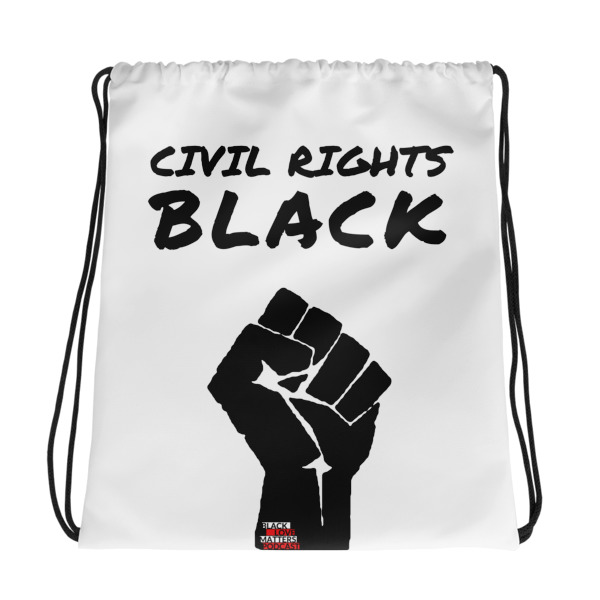 Civil Rights Black Drawstring bag